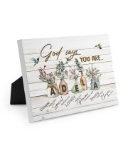 God says you are - Adela Easel-Back Gallery Wrapped Canvas tile