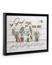 God says you are - Adela Floating Framed Canvas Prints Black tile