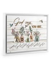 God says you are - Adela Floating Framed Canvas Prints White tile