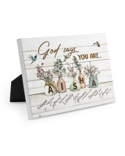 God says you are - Aisha Easel-Back Gallery Wrapped Canvas tile