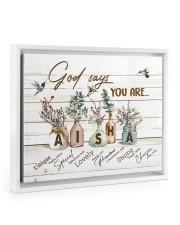God says you are - Aisha Floating Framed Canvas Prints White tile