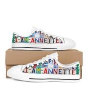 Annette- Lt203 Women's Low Top White Shoes inside-left-outside-left