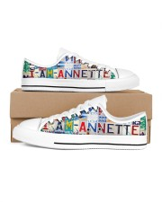 Annette- Lt203 Women's Low Top White Shoes inside-right-outside-right