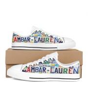 AMBAR LAUREN LT203 Women's Low Top White Shoes inside-left-outside-left