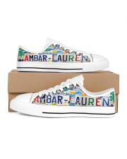 AMBAR LAUREN LT203 Women's Low Top White Shoes inside-right-outside-right