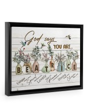 God says you are - Beatrice Floating Framed Canvas Prints Black tile