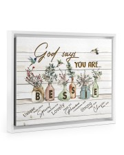 God says you are - Bessie Floating Framed Canvas Prints White tile