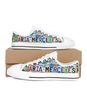 MARIA MERCEDES - LT203 Women's Low Top White Shoes inside-left-outside-left
