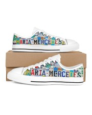 MARIA MERCEDES - LT203 Women's Low Top White Shoes inside-right-outside-right