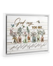 God says you are - Arianna Floating Framed Canvas Prints White tile