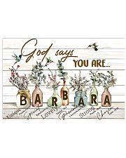 God says you are - Barbara Horizontal Poster tile