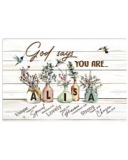God says you are - Alisa 17x11 Poster front