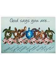 God says you are - Kristen 17x11 Poster front
