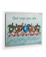 God says you are - Kristen Floating Framed Canvas Prints White tile