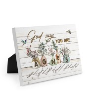 God says you are - Agnes Easel-Back Gallery Wrapped Canvas tile