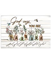 God says you are - Barbara 17x11 Poster front