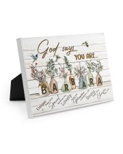 God says you are - Barbara Easel-Back Gallery Wrapped Canvas tile