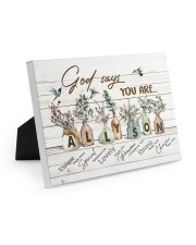 God says you are - Allyson Easel-Back Gallery Wrapped Canvas tile