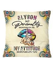 Alyson Square Pillowcase back