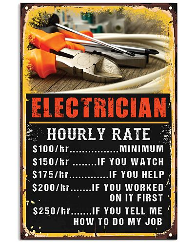 Awesome Electrician's Poster - Hourly Rate