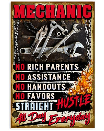 Awesome Mechanic's Poster - Hustle Everyday