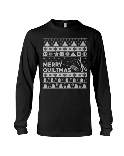 MERRY QUILTMAS UGLY CHRISTMAS SWEATER QUILTING