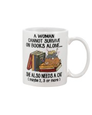 BOOK LOVERS GIFT CUTE CAT MOM FLOWER FUNNY Mug thumbnail