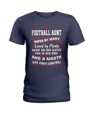 AWESOME FOOTBALL AUNT Ladies T-Shirt front