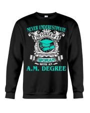 AM DEGREE BEST GRADUATION Crewneck Sweatshirt thumbnail