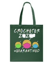 CROCHETER 2020 QUARANTINED YARN IN FACEMASK NEW Tote Bag thumbnail