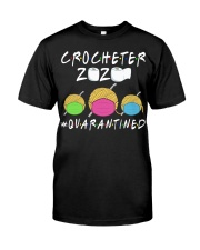 CROCHETER 2020 QUARANTINED YARN IN FACEMASK NEW Classic T-Shirt thumbnail