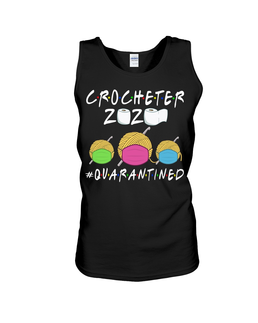 CROCHETER 2020 QUARANTINED YARN IN FACEMASK NEW Unisex Tank