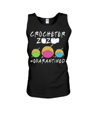 CROCHETER 2020 QUARANTINED YARN IN FACEMASK NEW Unisex Tank front