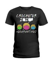 CROCHETER 2020 QUARANTINED YARN IN FACEMASK NEW Ladies T-Shirt thumbnail