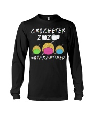 CROCHETER 2020 QUARANTINED YARN IN FACEMASK NEW Long Sleeve Tee thumbnail