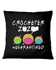 CROCHETER 2020 QUARANTINED YARN IN FACEMASK NEW Square Pillowcase thumbnail