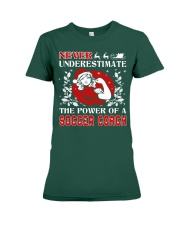 SOCCER COACH UGLY CHRISTMAS SWEATER SOCCER XMAS  Premium Fit Ladies Tee thumbnail