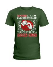 SOCCER COACH UGLY CHRISTMAS SWEATER SOCCER XMAS  Ladies T-Shirt thumbnail