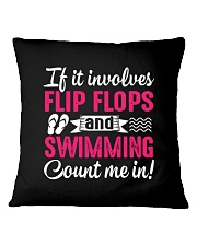 I LOVE FLIP FLOPS AND SWIMMING MEN WOMEN GIFT Square Pillowcase tile