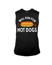 WILL RUN FOR HOT DOGS FUNNY Sleeveless Tee tile