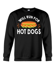 WILL RUN FOR HOT DOGS FUNNY Crewneck Sweatshirt thumbnail