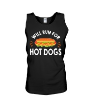 WILL RUN FOR HOT DOGS FUNNY Unisex Tank thumbnail