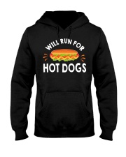 WILL RUN FOR HOT DOGS FUNNY Hooded Sweatshirt thumbnail