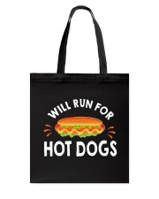 WILL RUN FOR HOT DOGS FUNNY Tote Bag thumbnail