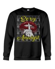 SEXY ANALYST UGLY CHRISTMAS SWEATER XMAS GIFT Crewneck Sweatshirt thumbnail