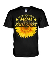 MOTHERS DAY GIFT ZOOLOGIST SUNFLOWER FUNNY WOMEN V-Neck T-Shirt thumbnail