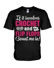I LOVE CROCHET AND FLIP FLOPS V-Neck T-Shirt thumbnail
