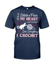 I LOVE CROCHET AND CAT FUNNY CROCHET Classic T-Shirt thumbnail