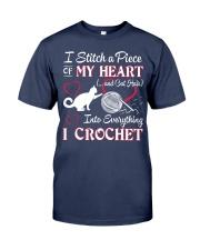 I LOVE CROCHET AND CAT FUNNY CROCHET Premium Fit Mens Tee thumbnail