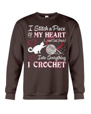 I LOVE CROCHET AND CAT FUNNY CROCHET Crewneck Sweatshirt thumbnail